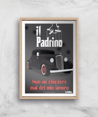 Le Parrain Affiche - A4 - Wooden Frame chez Casa Décoration