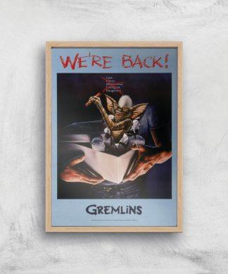 Gremlins We're Back Affiche - A3 - Wooden Frame chez Casa Décoration