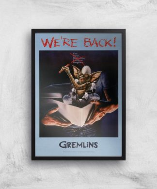 Gremlins We're Back Affiche - A3 - Black Frame chez Casa Décoration