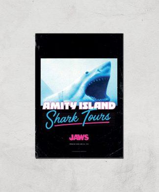 Les Dents de la Mer Amity Island Shark Tours Affiche - A4 - Print Only chez Casa Décoration