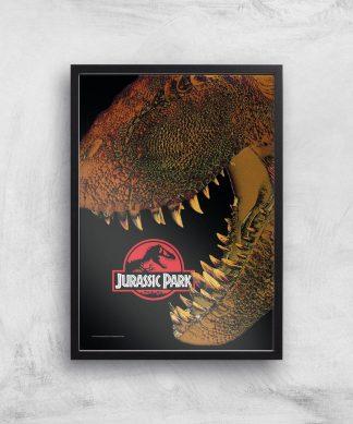 Jurassic Park Affiche - A4 - Black Frame chez Casa Décoration