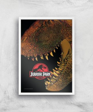 Jurassic Park Affiche - A3 - White Frame chez Casa Décoration