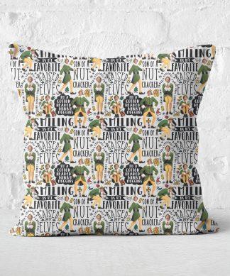 Elf Quotes Square Cushion - 50x50cm - Soft Touch chez Casa Décoration