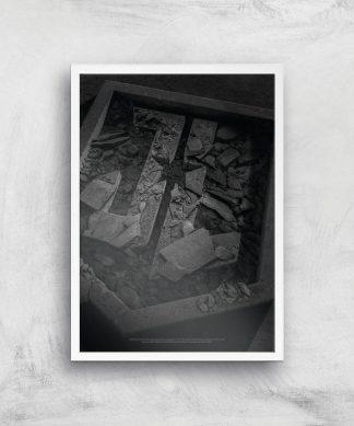 Justice League Logo Poster Giclee Art Print - A4 - White Frame chez Casa Décoration