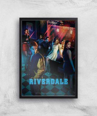 Riverdale Affiche Giclée - A4 - Wooden Frame chez Casa Décoration