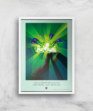 Game of Thrones Brave Men Affiche Artistique - A4 - White Frame chez Casa Décoration