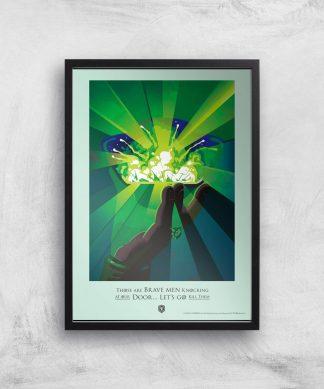 Game of Thrones Brave Men Affiche Artistique - A4 - Black Frame chez Casa Décoration
