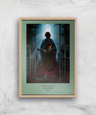 Game of Thrones Disappear Affiche Artistique - A4 - Wooden Frame chez Casa Décoration