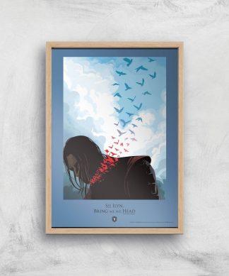 Game of Thrones Bring Me His Head Affiche Artistique - A4 - Wooden Frame chez Casa Décoration