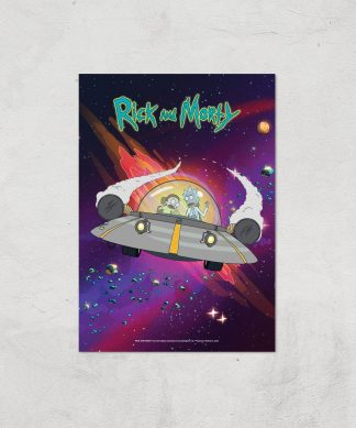 Rick and Morty Rocket Adventure Giclee Art Print - A4 - Print Only chez Casa Décoration