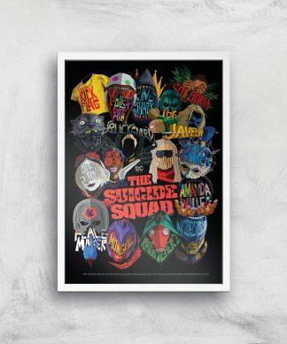 Suicide Squad Poster Giclee Art Print - A4 - White Frame chez Casa Décoration