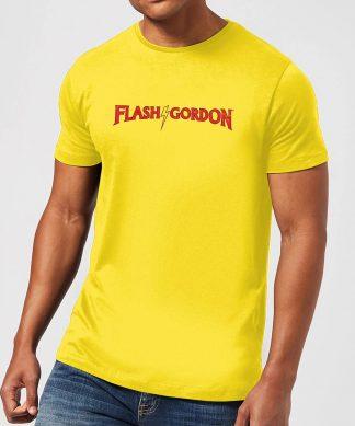 Flash Gordon Classic Logo Men's T-Shirt - Yellow - XS - Citron chez Casa Décoration
