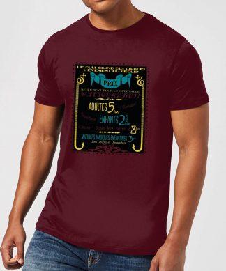 Fantastic Beasts Les Plus Grand Des Cirques Men's T-Shirt - Burgundy - XS - Burgundy chez Casa Décoration