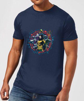 Aquaman Circular Portrait Men's T-Shirt - Navy - XS - Navy chez Casa Décoration