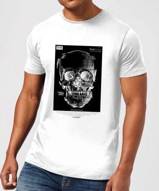 Distorted Skull Men's T-Shirt - White - XS - Blanc chez Casa Décoration