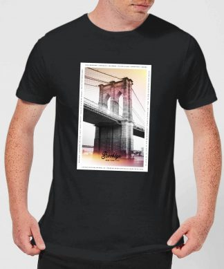 Brooklyn Bridge Men's T-Shirt - Black - XS - Noir chez Casa Décoration