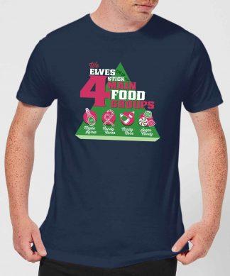 Elf Food Groups Men's Christmas T-Shirt - Navy - XS - Navy chez Casa Décoration