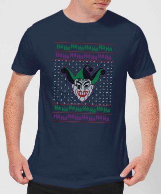 DC Joker Knit Men's Christmas T-Shirt - Navy - XS - Navy chez Casa Décoration