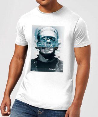 T-Shirt Homme Frankenstein Glitch - Universal Monsters - Blanc - XS - Blanc chez Casa Décoration