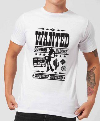 T-Shirt Homme Affiche Wanted Toy Story - Blanc - XS - Blanc chez Casa Décoration