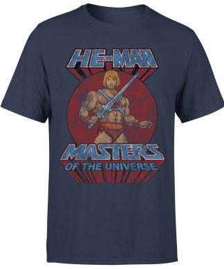 T-Shirt Homme Effet Abîmé - Les Maîtres de l'univers - Bleu Marine - XS - Navy chez Casa Décoration