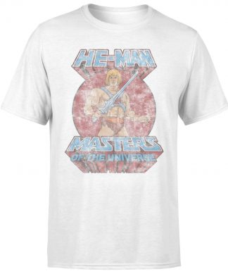 T-Shirt Homme Vintage - Les Maîtres de l'univers - Blanc - XS - Blanc chez Casa Décoration
