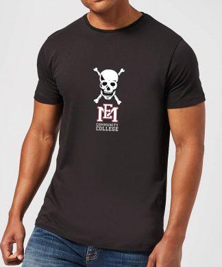 T-Shirt Homme Tête de Mort et Logo - East Mississippi Community College - Noir - XS - Noir chez Casa Décoration