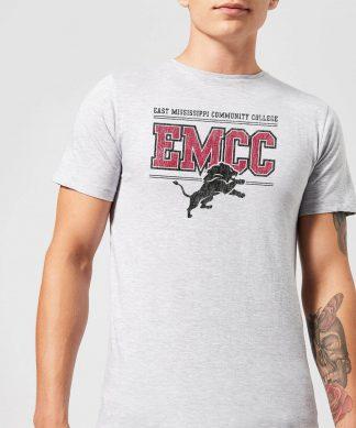 T-Shirt Homme Lion et Effet Abîmé - East Mississippi Community College - Gris - XS chez Casa Décoration