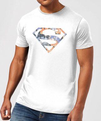 T-Shirt Homme Logo Superman Fleuri DC Originals - Blanc - XS chez Casa Décoration