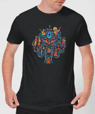 T-Shirt Homme Motif Arbre Coco - Noir - XS - Noir chez Casa Décoration
