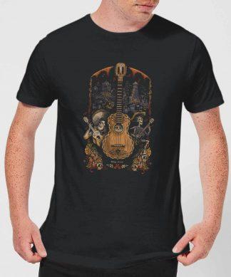 T-Shirt Homme Affiche Guitare Coco - Noir - XS chez Casa Décoration
