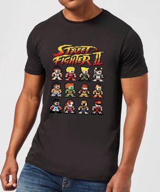 T-Shirt Homme Personnages 2 Pixels Street Fighter - Noir - XS chez Casa Décoration