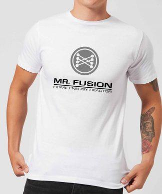T-Shirt Homme Retour vers le Futur - Mr Fusion - Blanc - XS - Blanc chez Casa Décoration