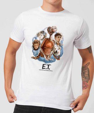 T-Shirt Homme E.T. l'extra-terrestre - Portrait Peint - Blanc - XS chez Casa Décoration