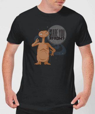 T-Shirt Homme E.T. l'extra-terrestre - D'où Viens-Tu - Noir - XS chez Casa Décoration