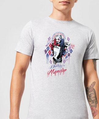 T-Shirt Homme Harley Quinn Daddy's Lil Monster - Suicide Squad (DC Comics) - Gris - XS - Gris chez Casa Décoration