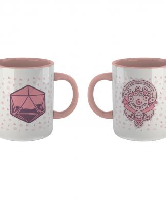 Donjons & Dragons D&D Beholder Dreams Mug - blanc/rose chez Casa Décoration