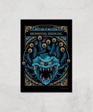 Donjons & Dragons Monster Manual Giclee Art Print - A4 - Print Only chez Casa Décoration