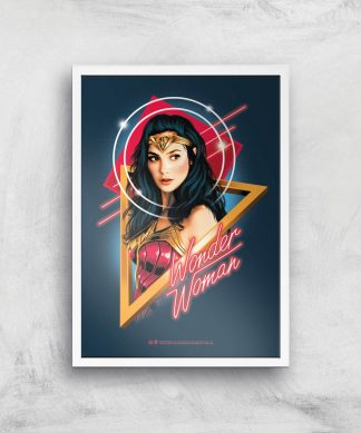 Wonder Woman Welcome To The 80s Giclee Art Print - A2 - White Frame chez Casa Décoration