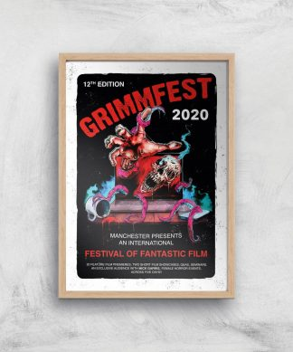 Grimmfest 2020 Tour Giclee Art Print - A2 - Wooden Frame chez Casa Décoration