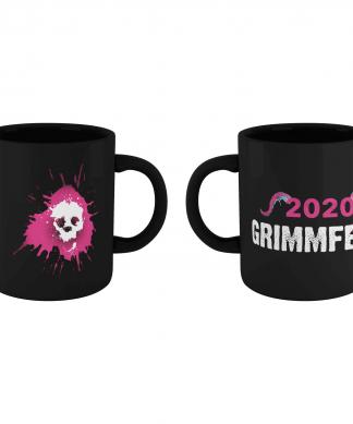 Grimmfest 2020 Pink Skull Logo Mug - Black chez Casa Décoration