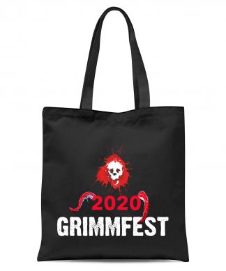 Grimmfest 2020 Pink Skull Tote Bag - Black chez Casa Décoration