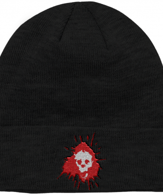 Grimmfest 2020 Skull Logo Embroidered Beanie chez Casa Décoration