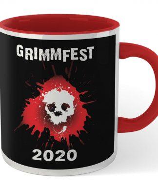 Grimmfest 2020 Skull Logo Mug - White/Red chez Casa Décoration