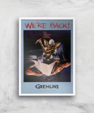 Gremlins We're Back Affiche - A3 - White Frame chez Casa Décoration
