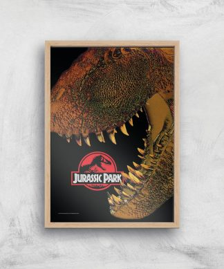 Jurassic Park Affiche - A4 - Wooden Frame chez Casa Décoration