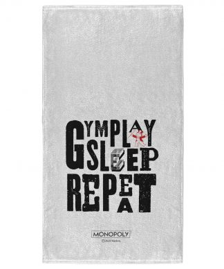 Monopoly Gym Play Sleep Repeat - Fitness Towel chez Casa Décoration