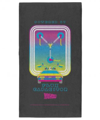 Back to the Future Flux Capacitor Pattern - Fitness Towel chez Casa Décoration