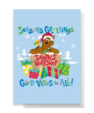 Scooby Doo Seasons Greetings Good Vibes All Greetings Card - Large Card chez Casa Décoration