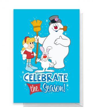 Celebrate The Season Greetings Card - Large Card chez Casa Décoration